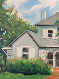 Julie's House at Ft Pierce oil on Canvas board