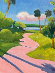 Florida in the Pink 8x8 oil on Panel $185.JPG