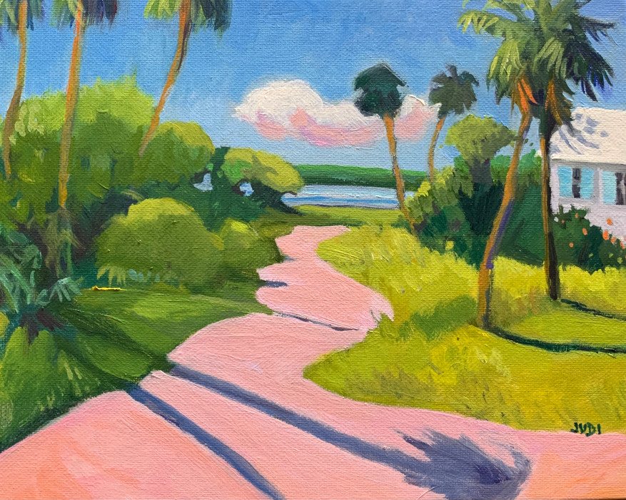 Florida in the Pink 8x8 oil on Panel $225.JPG