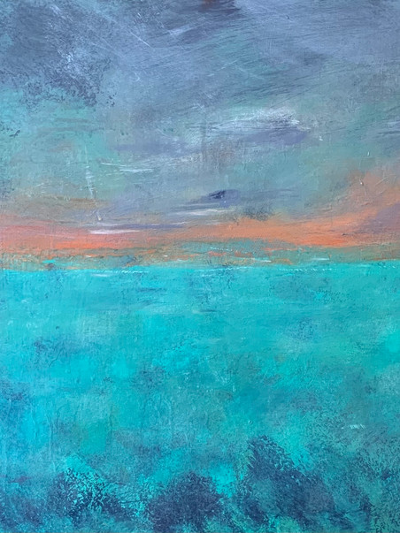 Morning over the Reef - acrylic on 18x24 canvas