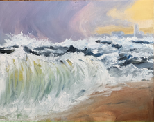 When the wind meets the Sea, 16x20_ oil