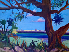 """Oil on canvas 16x20"""" Florida Morning, $328"""
