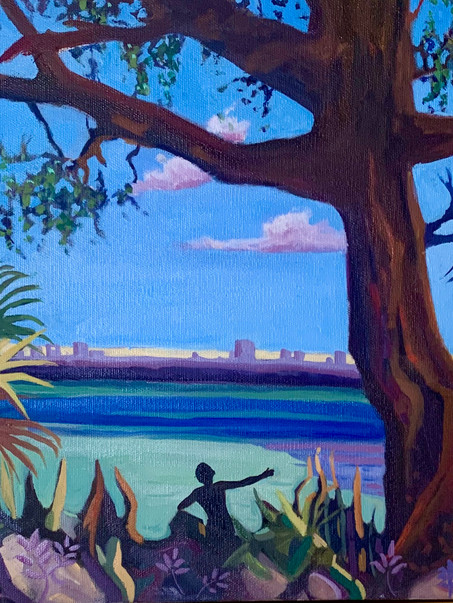 "Oil on canvas 16x20"" Florida Morning, $328"