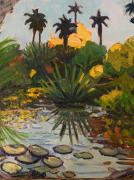 Oil of the Alligator Patch, near Ft Pierce, FL $235