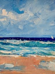 Atlantic Ocean meets Florida coastline