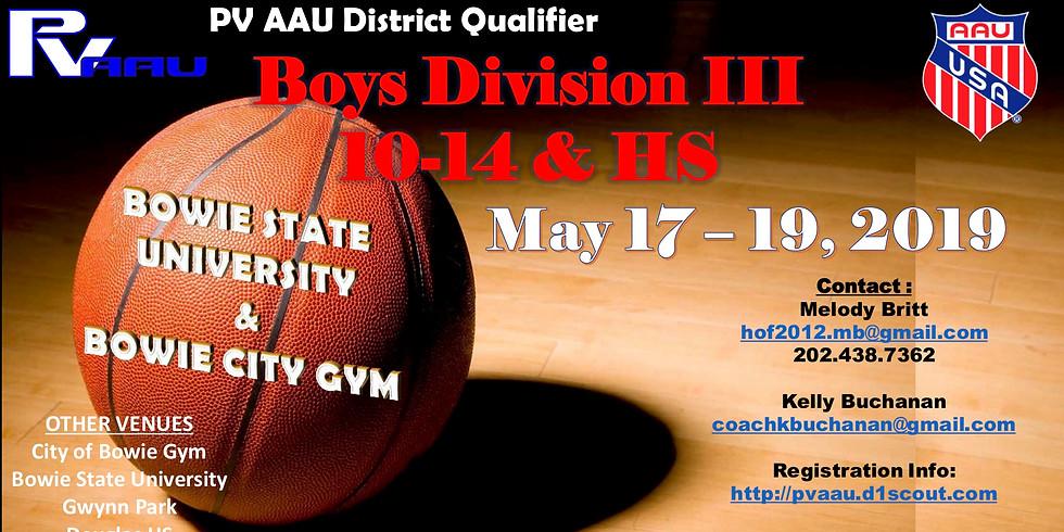 PV Boys D3 AAU District Qualifiers
