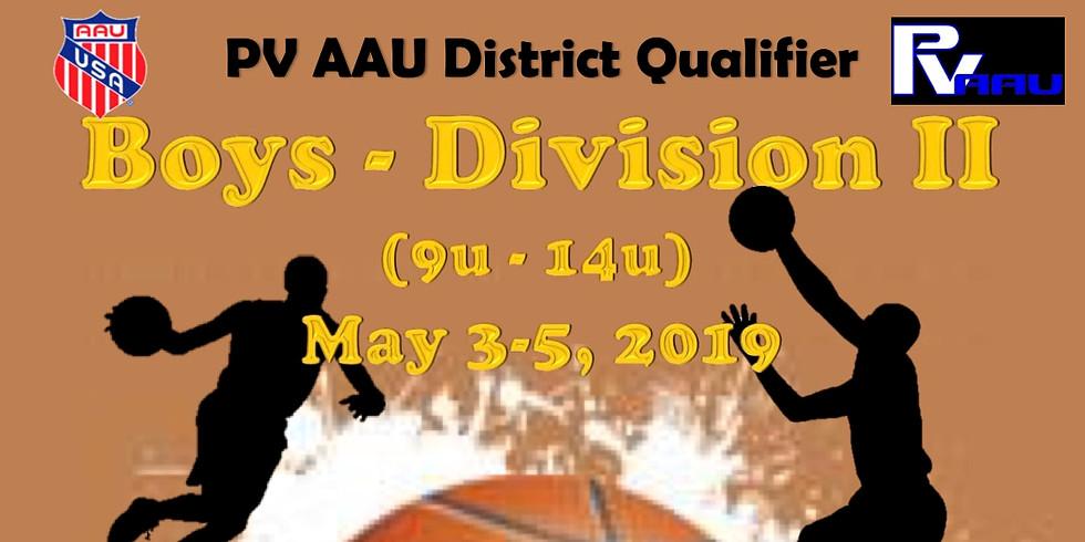 PV Boys D2 AAU District Qualifier