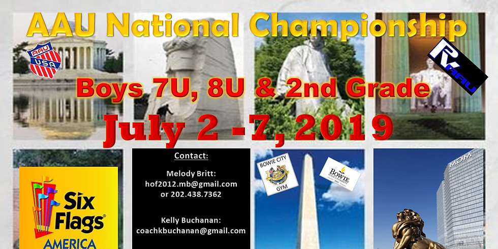 7u, 8u and 2nd Grade AAU Nationals