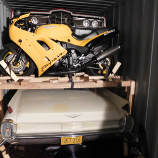 Car with Motorcycle on Deck.JPG