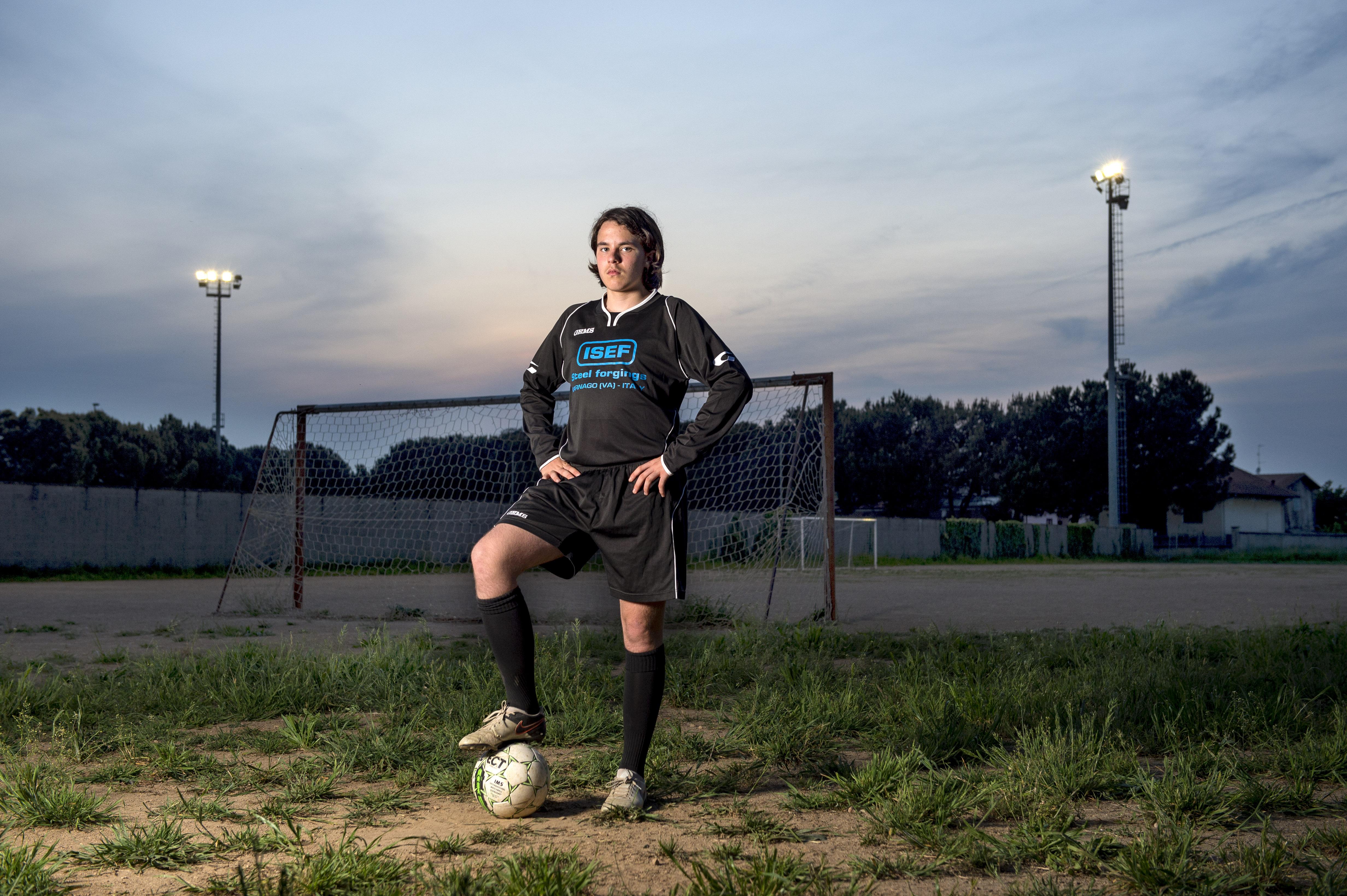 Young footballer, Italy, 2016