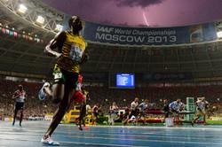 Usain Bolt 100M WC final Moscow2013