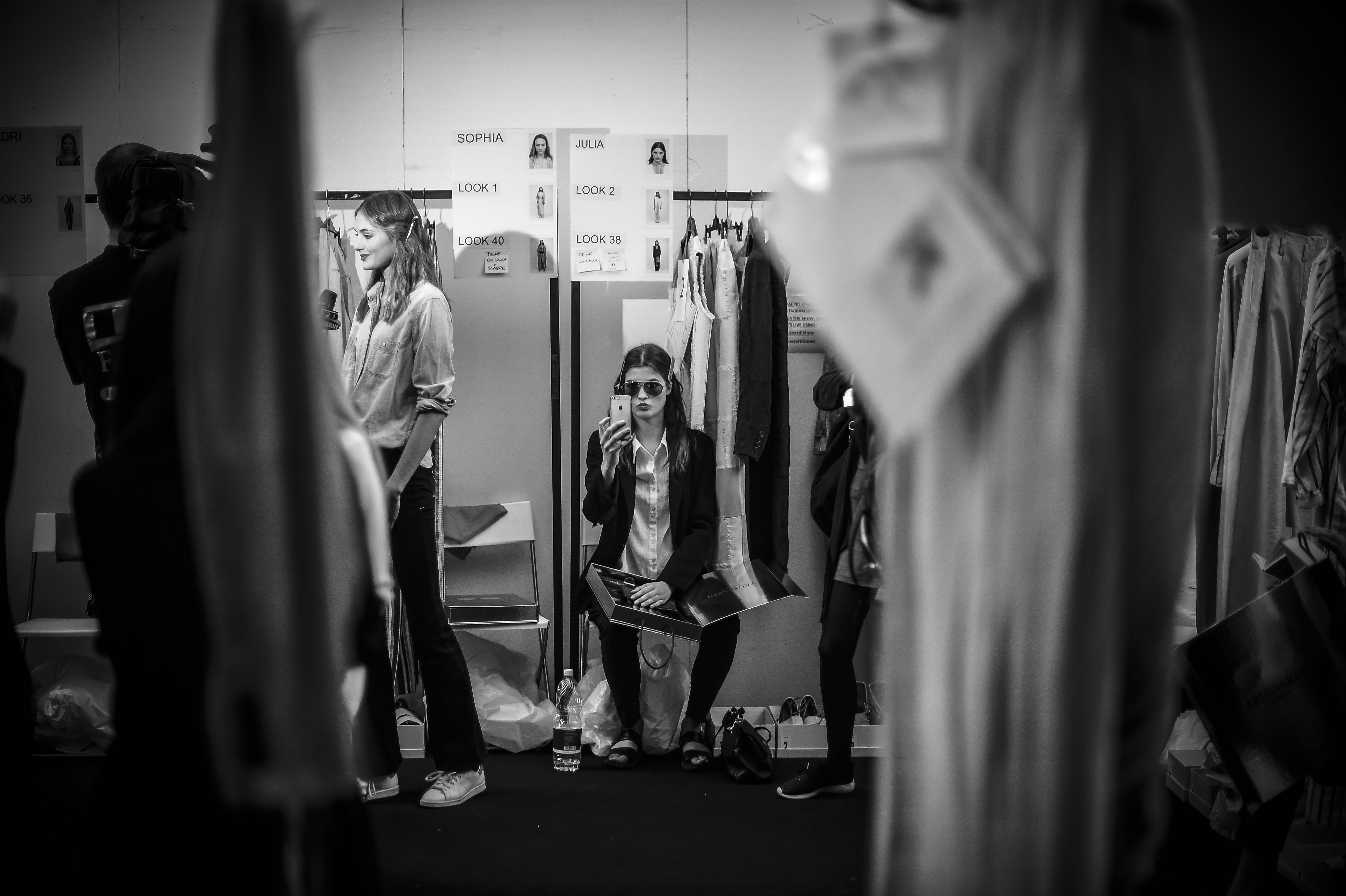 Fashion week backstage, Milan, 2015