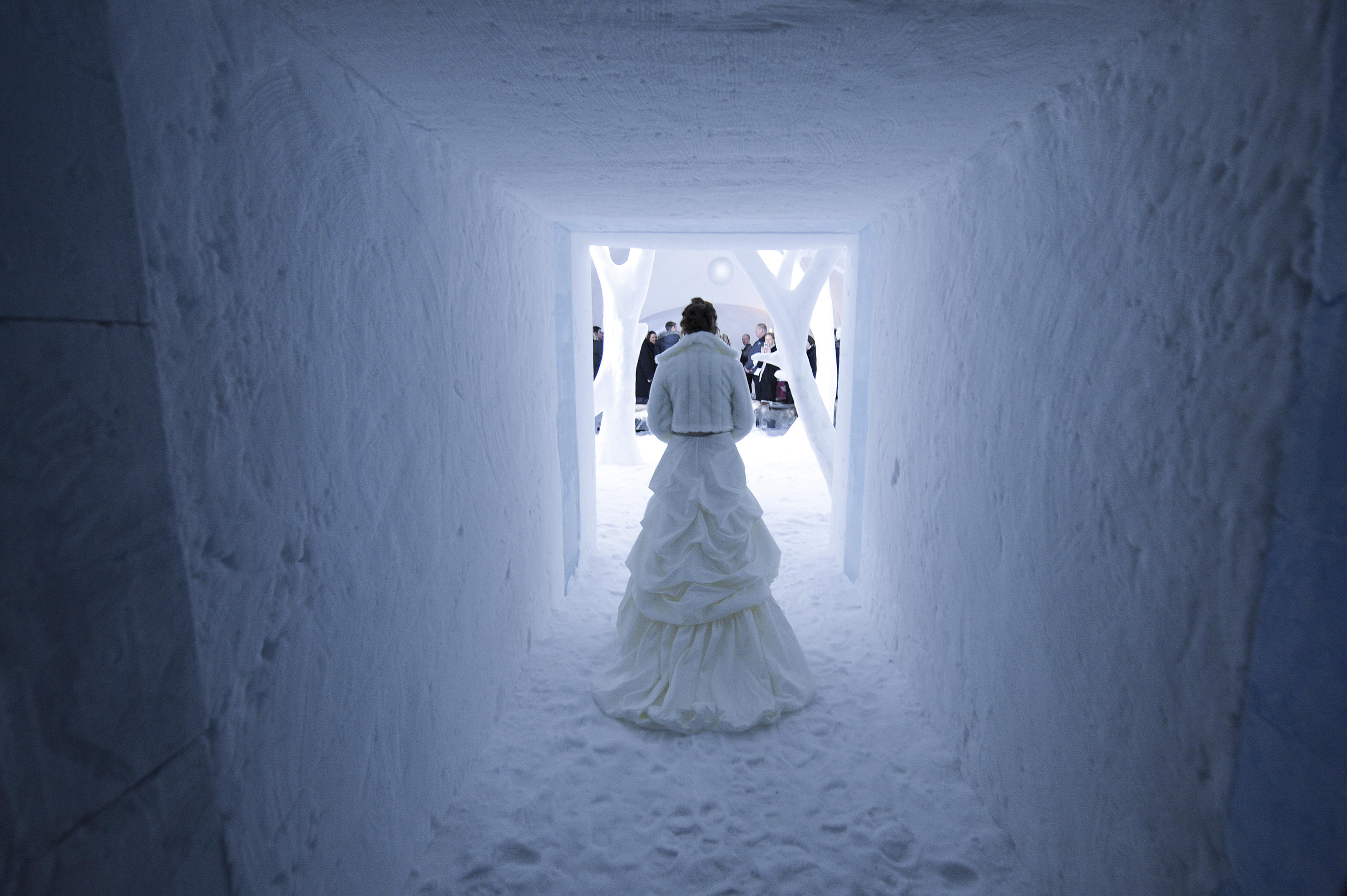 Wedding in Ice Capel, Sweden 2010