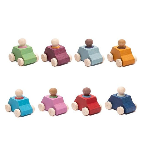 LUBULONA Cars Pack 8 with 8 figures