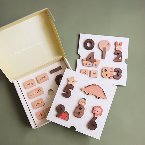 Oioiooi Wooden Numbers Play Blocks