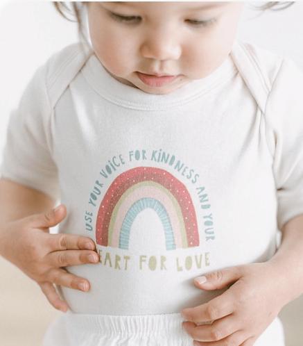 Finn + Emma Kindness Rainbow Onesie