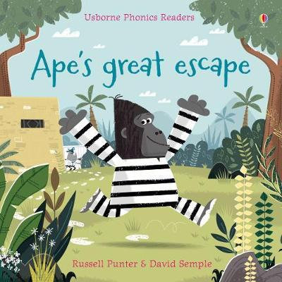 Usborne Phonics Readers Ape's Great Escape Book by Russell Punter