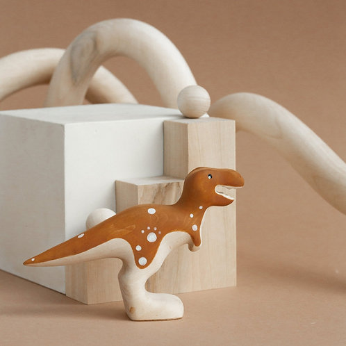Izvetvey Wooden T-Rex With Built-In Magnets