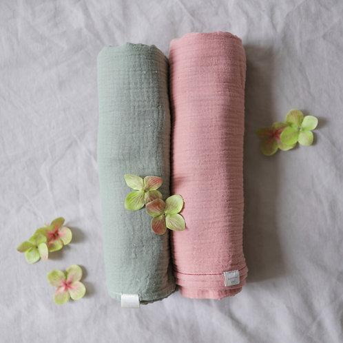Muslin Wrap Set - Petal Blossom, Meadow Mist