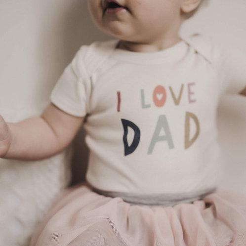Finn + Emma I Love Dad Onesie