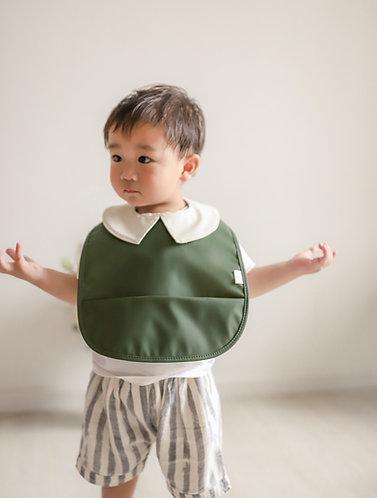 Mellow Singapore Preppy Baby Bib - Seaweed