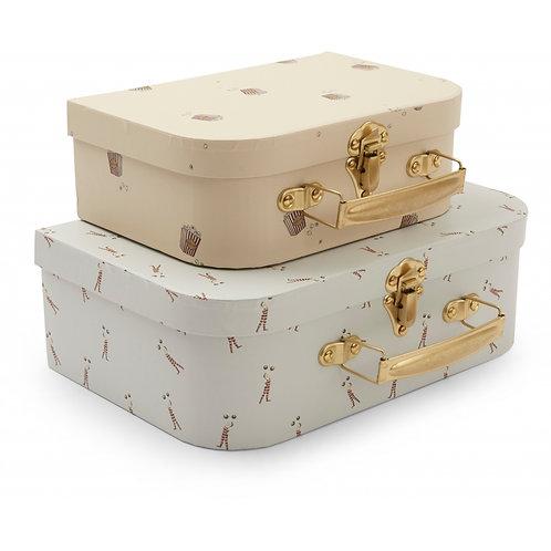 Konges Slojd 2 Pack Luggage - Strong Man/Popcorn