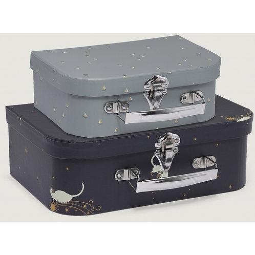 Konges Slojd 2 Pack Luggage - Siamois/Mille Marine