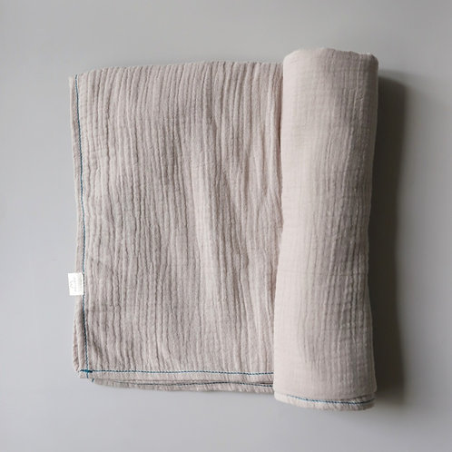 Mellow Singapore Muslin Wrap Baby Swaddle in Grey