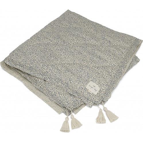 Konges Slojd Baby Quilt Blanket - Blue Blossom Mist