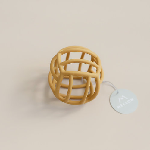 Mellow Silicone Ball Teether - Gold