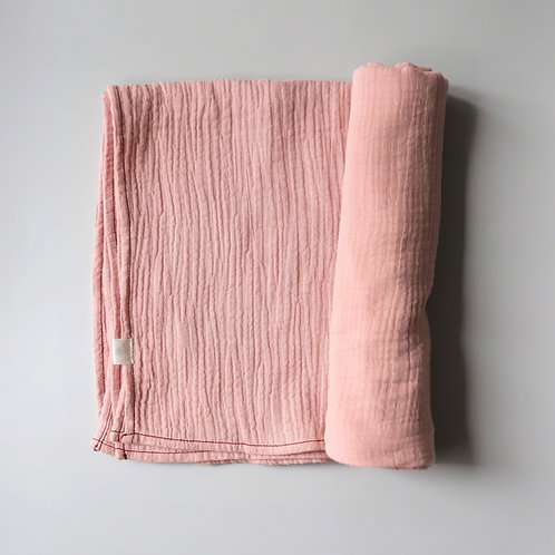 Mellow Singapore Muslin Wrap Baby Swaddle in Pink