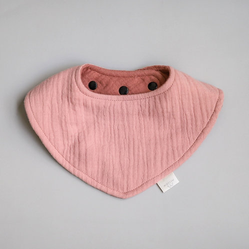 Reversible Dribble Bib - Petal Blossom / Rose Gold
