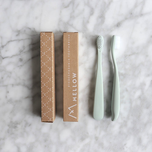 Biodegradable Toothbrush Twin Pack - Mellow Singapore