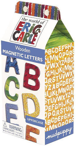 Eric Carle Uppercase Letters Wooden Magnetic Set