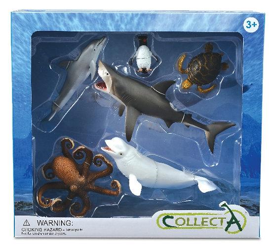 CollectA Sea Creatures Set - 6pcs