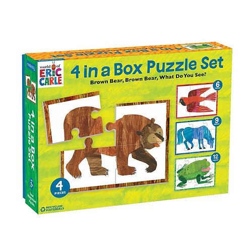 World of Eric Carle, 4 in a Box Puzzle Set