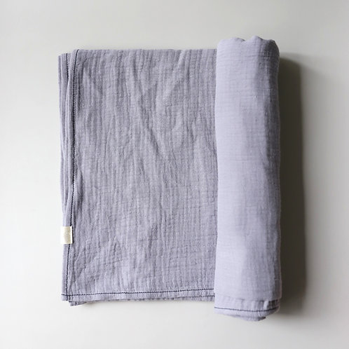 Mellow Singapore Muslin Wrap Baby Swaddle in Blue