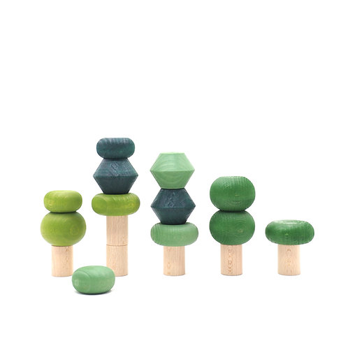 Lubulona Wooden Stacking Trees - Summer