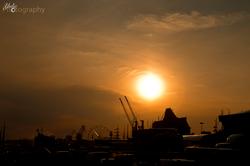Hanse Sail 2014 im Sonnenuntergang