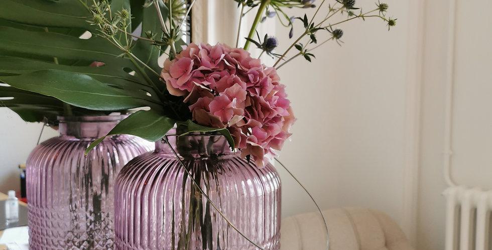 Vase lanterne rose