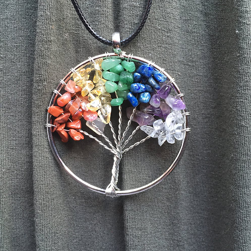 Chrystal Life Tree  |  Earth Elements Necklace