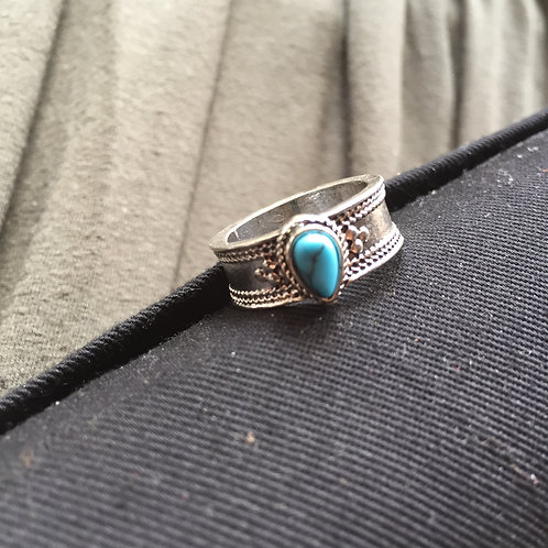 Turquoise Drop  |  Earth Elements Ring