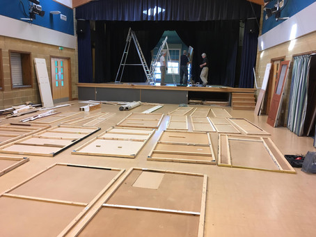 Set building well underway!