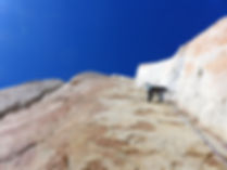 trad climbing in chamonix