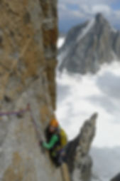 climbing on grand capucin- swiss route/o sole mio.