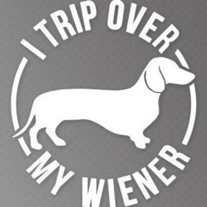 I trip over my wiener