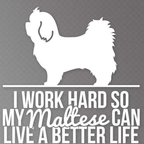 I Work so hard so my Maltese can live a better life