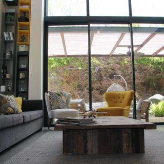 מבט מהסלון לגינה