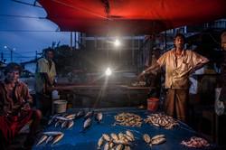 Sri Lanka Travel Fish seller