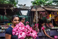 Sri Lanka Travel flowers and market